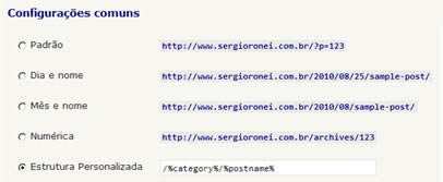 URL's amigáveis no WordPress