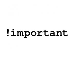 Uso do !important no CSS